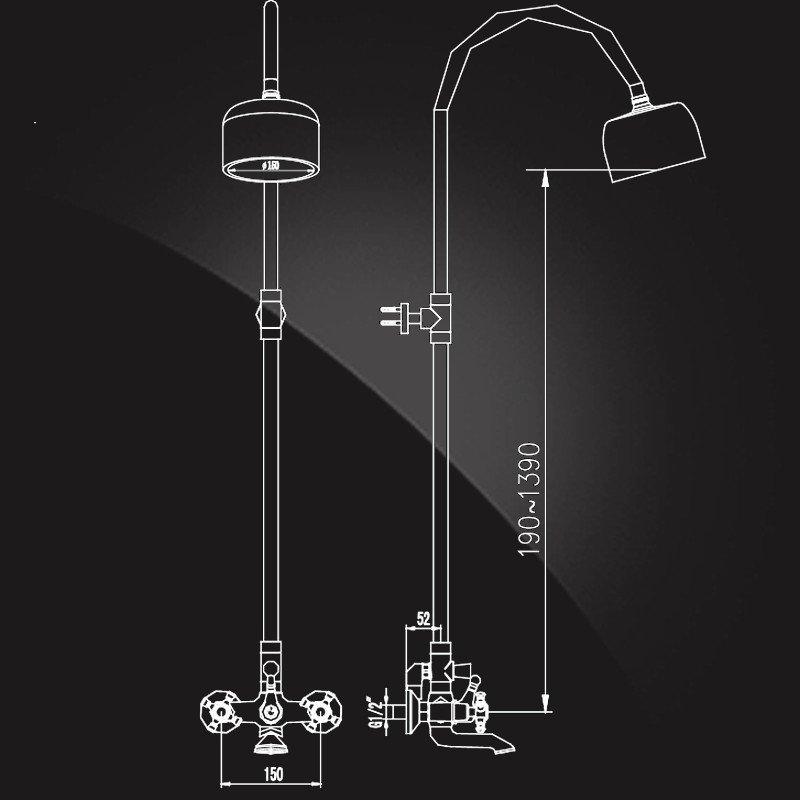 Шторка на ванну Vegas-Glass ZV+ZVF ZV+ZVF 170*90 08 02