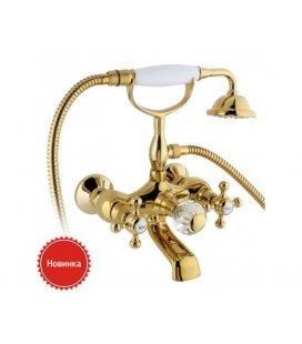 Смеситель Timo Nelson 1914Y золото (ванна кор. излив)