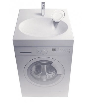 Раковина над стиральной машинкой Velvex Lea 600x600 мм