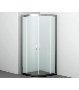 Душевой уголок сектор с раздвижными дверьми матовое стекло WasserKRAFT Isen 26S01 Matt glass