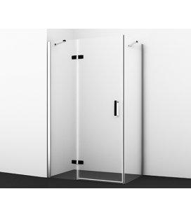 Душевой уголок прямоугольный с левой распашной дверью WasserKRAFT Aller 10H10LBLACK