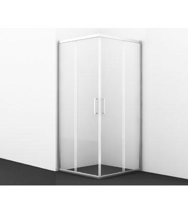 Душевой уголок квадратный с раздвижными дверьми матовое стекло WasserKRAFT Main 41S03 Matt glass