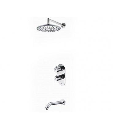 Встраиваемый комплект для ванны с изливом и верхней душевой насадкой WasserKRAFT 15030 Thermo