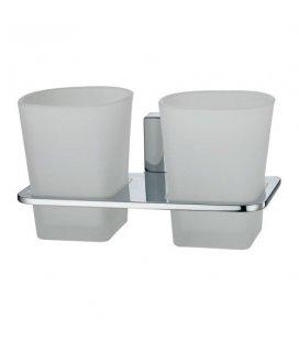 Подстаканник двойной стеклянный WasserKRAFT Leine K5028D