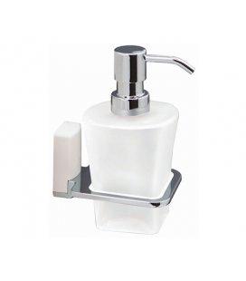 Дозатор для жидкого мыла стеклянный WasserKRAFT Leine K5099WHITE