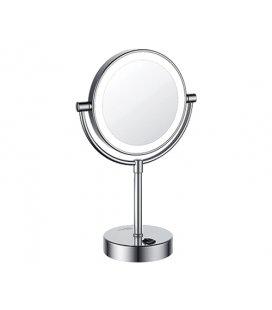 Зеркало с подсветкой двухстороннее стандартное и с х кратным увеличением WasserKRAFT K1005 LED