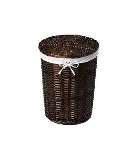 Плетеная корзина для белья с крышкой WasserKRAFT lbe WB740L
