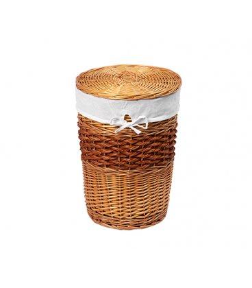 Плетеная корзина для белья с крышкой WasserKRAFT Main WB410L