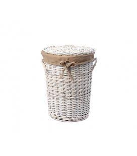 Плетеная корзина для белья с крышкой WasserKRAFT Aller WB106S