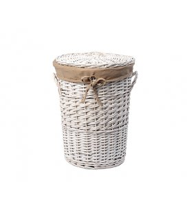Плетеная корзина для белья с крышкой WasserKRAFT Aller WB106M