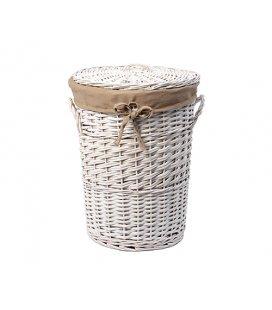 Плетеная корзина для белья с крышкой WasserKRAFT Aller WB106L