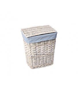 Плетеная корзина для белья с крышкой WasserKRAFT Lippe WB450S