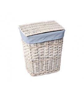 Плетеная корзина для белья с крышкой WasserKRAFT Lippe WB450L