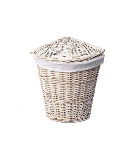 Плетеная корзина для белья с крышкой WasserKRAFT Vils WB560M