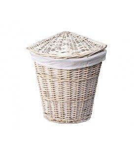 Плетеная корзина для белья с крышкой WasserKRAFT Vils WB560L