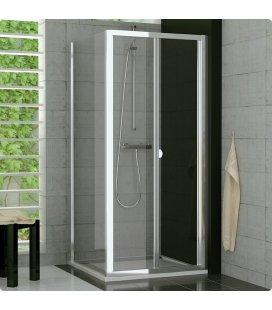 Прямоугольный душевой уголок со складной дверью-гармошкой SanSwiss TOP-LINE TOPK+TOPF