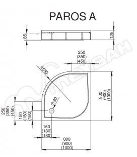 Панель для Radaway Paros A