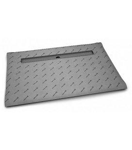Прямоугольная душевая плита с линейным трапом вдоль длинной стороны
