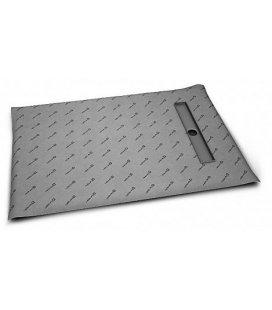 Прямоугольная душевая плита с линейным трапом вдоль короткой стороны