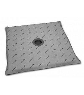 Квадратная душевая плита с компактным трапом