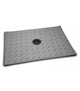 Прямоугольная душевая плита с компактным трапом