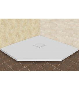 Душевой поддон пятиугольный RGW Stone Tray ST/T (крышка сифона в цвет поддона)