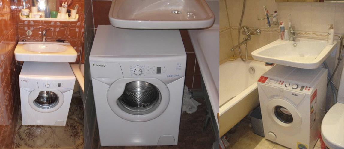 Раковина над стиральной машиной IDO, Кувшинка