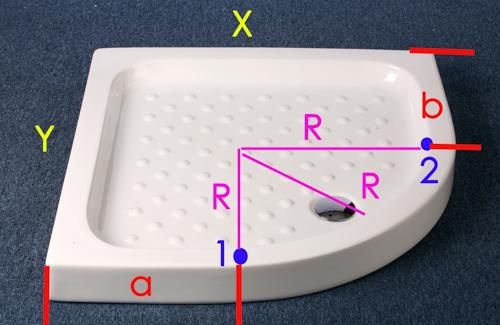 Как измерить поддон под душевую