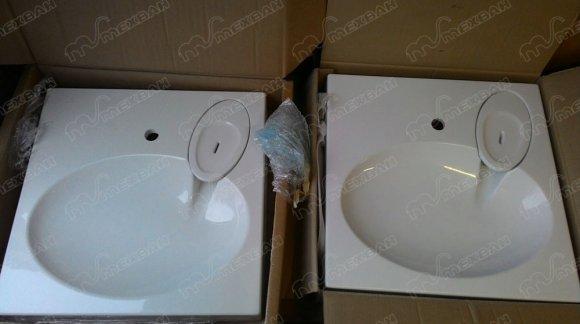 Сравнение раковин над стиральной машиной PAA Claro и Velvex Lea